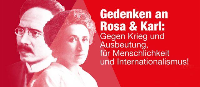 Gedenken zum 100. Todestag von Rosa & Karl