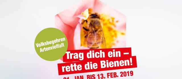 Volksbegeren Artenvielfalt – rettet die Bienen!