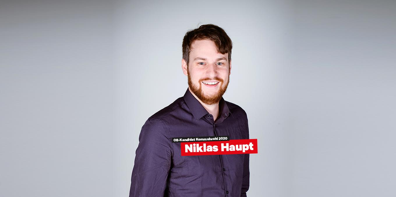 OB-Kandidat Niklas Haupt DIE LINKE Fürth Kommunalwahl 2020