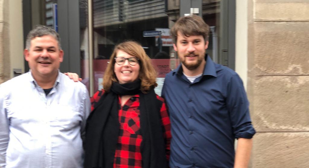 Niklas Haupt, Ulrich Schönweiß, Bettina Wagegg KandidatInnen DIE LINKE Fürth Kommunalwahl 2020