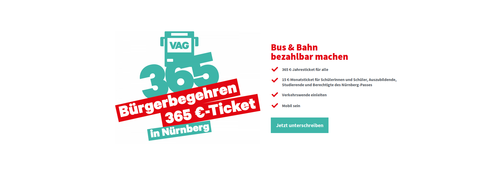 Bür­ger­be­geh­ren 365 € — Ticket