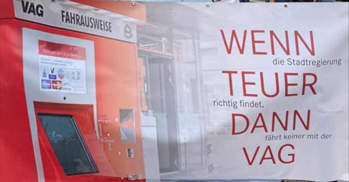 Transparent: Wenn die Stadtregierung teuer richtig findet, dann fährt keiner mitder VAG