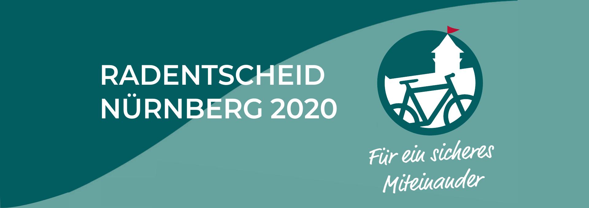 Banner mit Logo des Radentscheid Nürnberg